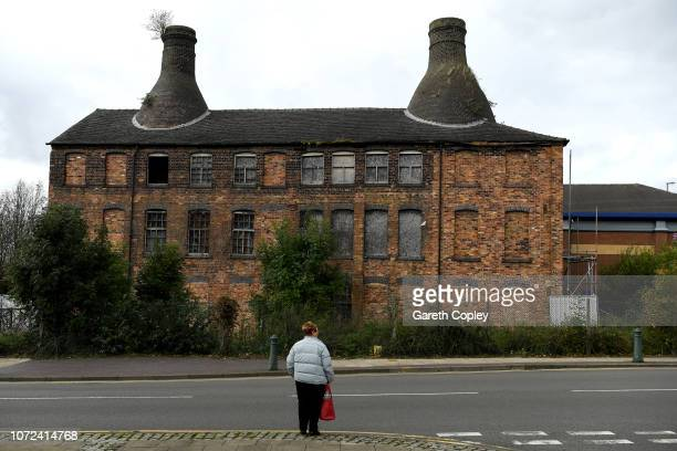 The remaining kilns of Commerce Works Longton on September 10 2018 in Stoke on Trent England At the height of the Potteries industry the StokeonTrent...