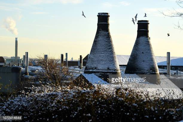 The remaining kilns of Falcon Works Stoke on November 12 2017 in Stoke on Trent England Falcon Works built around 1870 which sits adjacent to the...