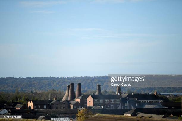 The remaining kilns of Gladstone Pottery Longton on October 25 2017 in Stoke on Trent England At the height of the Potteries industry the...