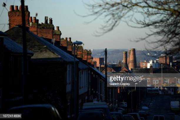 The remaining kilns of James Kent Fenton on February 7 2018 in Stoke on Trent England At the height of the Potteries industry the StokeonTrent...