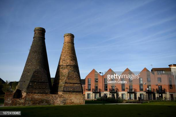 The remaining kilns of Johnson Brothers Trent Pottery Hanley on October 10 2017 in Stoke on Trent England Built 1896 The main factory was demolished...