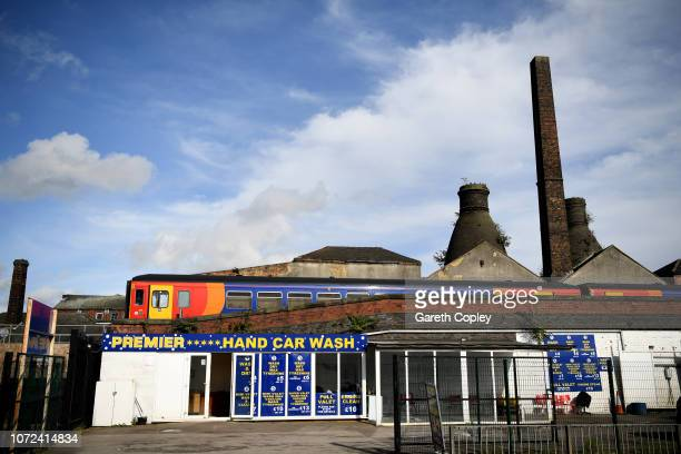 The remaining kilns of Phoenix Works, Longton on September 29, 2017 in Stoke on Trent, England. At the height of the Potteries industry, the...