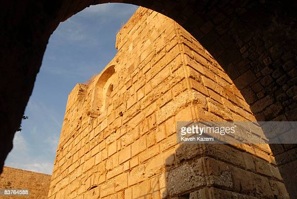The remaining walls of Crusaders Fort in Byblos Castle built by the crusaders in the 12th century It is located in an archaeological site near the...