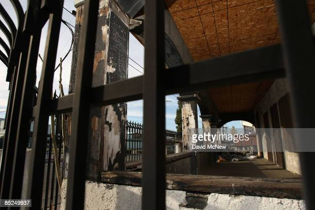 The remains of a burned out building stand March 3 2009 in Compton California The city that became known as the birthplace of gangsta rap and was...