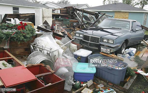 The remains of a garage after Hurricane Rita passed Saturday September 24 2005 in Port Arthur Texas Hurricane Rita caused damage and moved across...