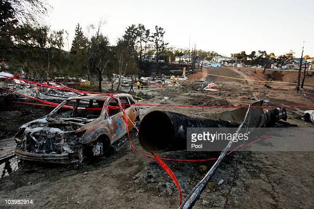 The remains of a gas line lie on the ground after an explosion September 10 2010 in San Bruno California The explosion rocked a neighborhood near San...