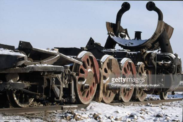 The remains of an American inspired JF Clan Mikado 282 at Manzhouli on China's Russian border in Inner Mongolia Several of these bizarre skeletal...