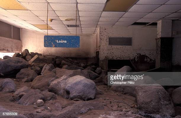 The remains of Barclays Bank interior 10 years ago the SoufriereHills Volcano erupted and destroyed large parts of the Caribbean island of Montserrat...