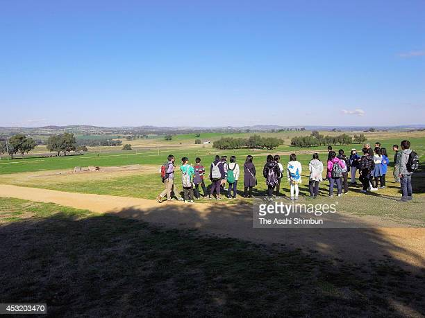 The remains of Cowra POW camp is seen a day before the 70th anniversary of the Cowra breakout on August 4 2014 in Cowra Australia On August 5...