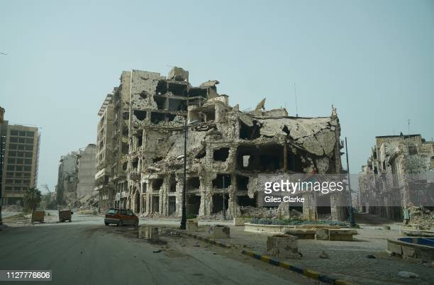 TOWN LIBYA FEBRUARY 4 2019 The remains of damaged buildings located in Benghazi's Old Town on February 4 2019 in Libya After the Libyan revolution in...