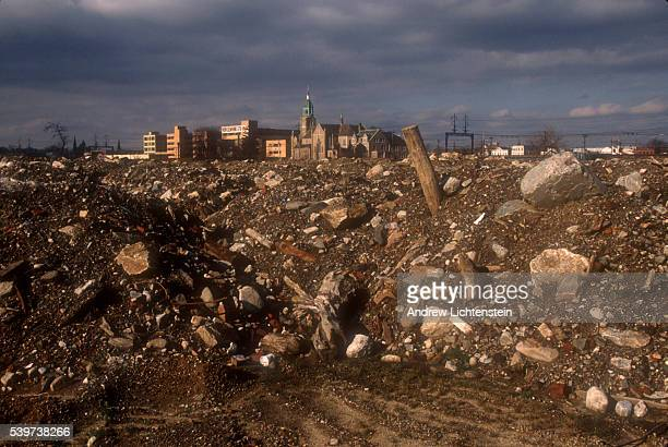 The remains of Father Panik village, one of the most famous drug spots in the Northeastern United States. The housing project was torn down and its...