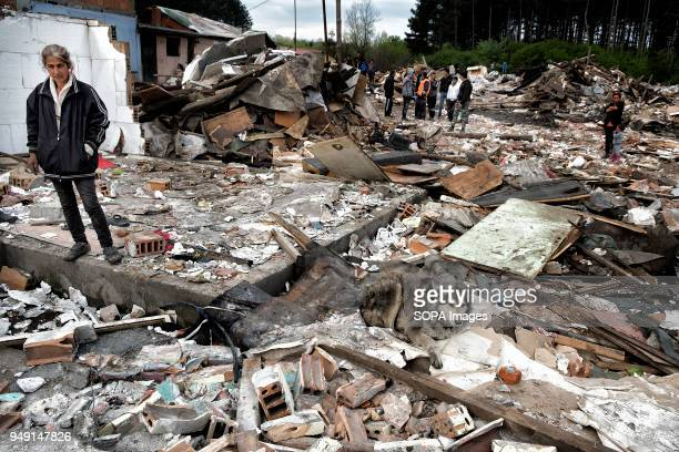 The remains of homes razed in a Roma quarter of Sofia At least 20 homes deemed illegal were destroyed by the local municipality leaving many of the...
