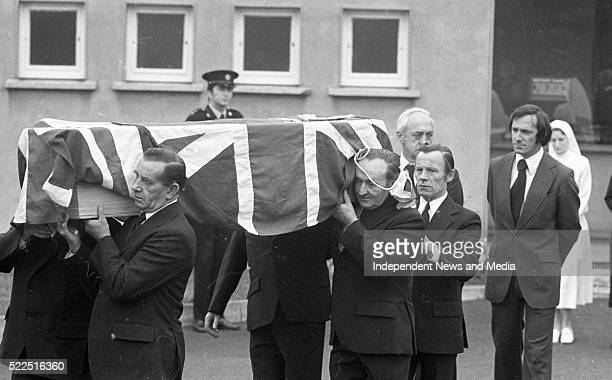 The remains of Miss Judith Cook secretary to the British Ambassador Christopher EwartBiggs being removed from St Vincent's Hospital The Ambassador...