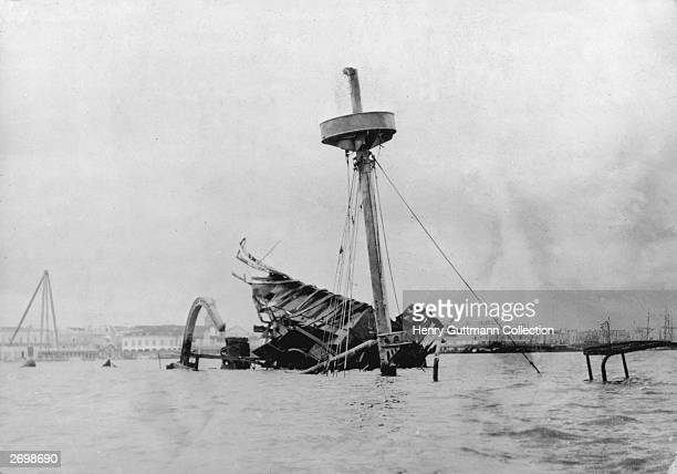 The remains of the battleship USS Maine, which was blown up in Havana harbour, triggering the Spanish-American War.