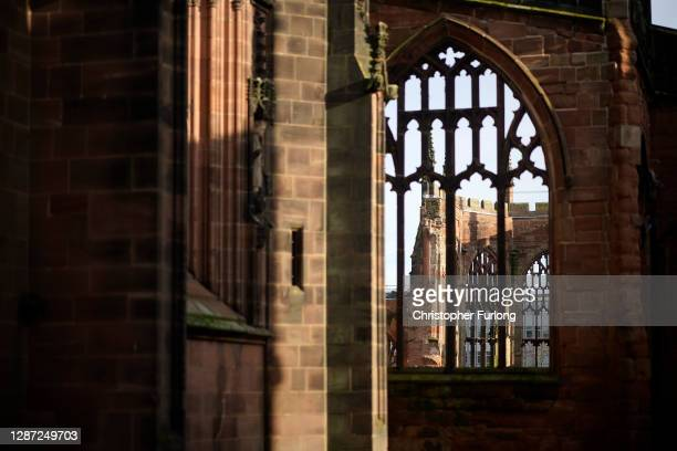 The remains of the bombed out original Coventry Cathedral on November 23, 2020 in Coventry, England. Coventry won a quadrennial competition held by...
