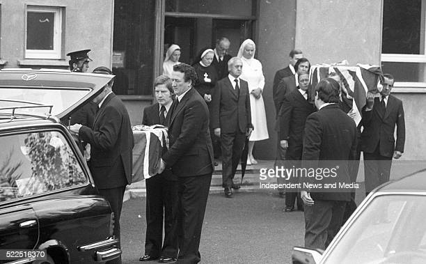 The remains of the British Ambassador Christopher EwartBiggs and his secretary Miss Judith Cook being removed from St Vincent's Hospital The...