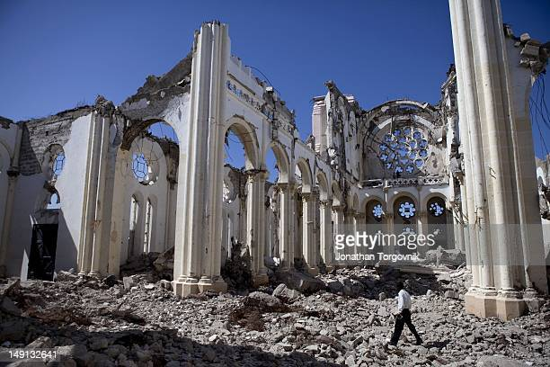 The remains of the National Cathedral January 2011 in PortauPrince Haiti The Cathedral was destroyed during the January 2010 earthquake