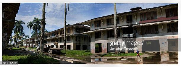 The remains of the officers housing where John McCain lived with his family as a baby at Coco Solo US Navy base on the Atlantic Ocean side of the...