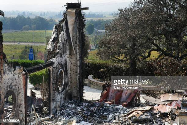 The remains of the Signorello Vineyards estate is seen on October 16, 2017 in Napa, California. At least 40 people were killed with many are still...