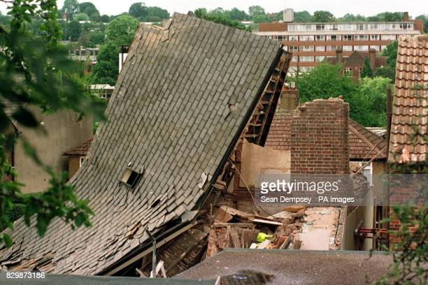 The remains of the sixbedroomed house in hemel Hempstead Hertfordshire that was blown apart today in what police and firemen believe may have been a...