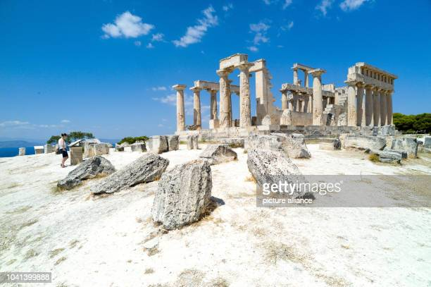 The remains of the temple devoted to goddess Afea from the 5th century BC is pictured on Aegina IslandGreece 18 July 2013 PhotoMAURIZIOGAMBARINI |...