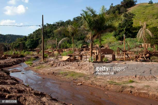 The remains of the village of Paracatu de Baixo. In Nov 2015, the worst environmental disaster in Brazil's history happened, when an iron tailings...