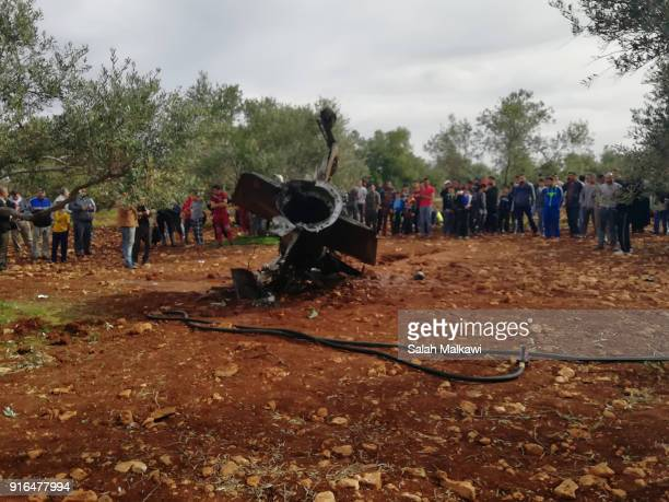 The remains of which is believed to be part of a S300 missile system which was launched from Syria landed in empty land in the northern town of Malka...