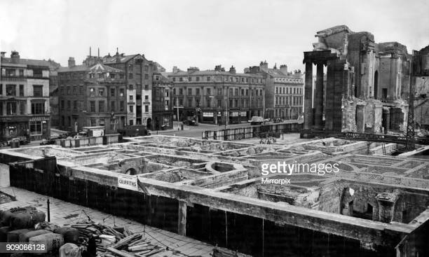The remarkable pattern of cellars at the old Customs House, Liverpool, now fast disappearing in demolition work, 7th April 1948.