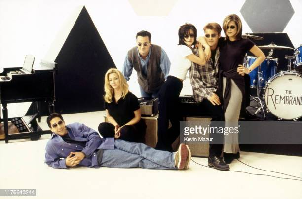 The Rembrandts performs the official music video for the Friends theme song I'll be there for you with the cast at 30 Rockefeller Plaza in New York...