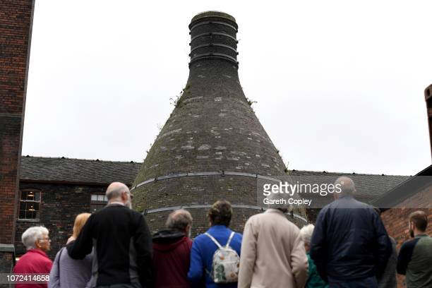 The remianing kiln of Middleport Pottery Burslem on October 23 2017 in Stoke on Trent England Built in 1888 by Burgess Leigh was at serious risk of...