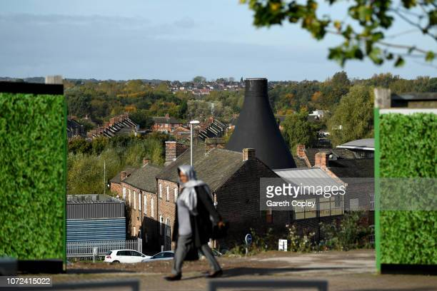 The remining kiln of Dudsons Hanley on October 12 2017 in Stoke on Trent England At the height of the Potteries industry the StokeonTrent skyline was...