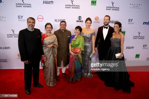 The Remix movie's members arrive for the 47th Annual International Emmy Awards at New York Hilton on November 25 2019 in New York City