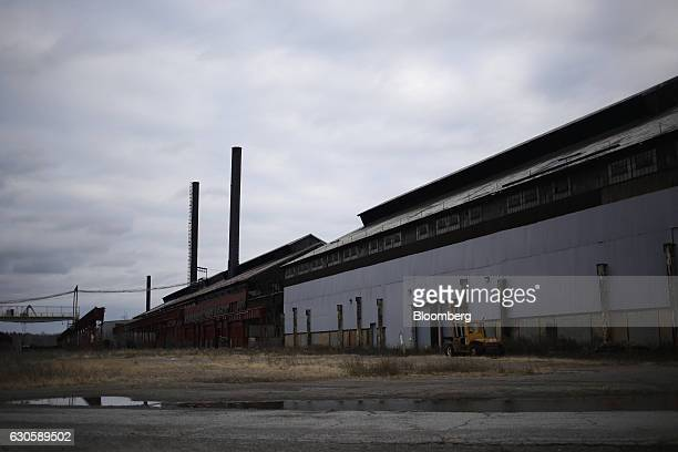 The remnants of buildings stand on the grounds of the former US Steel McDonald Works steel mill near Youngstown in Campbell Ohio US on Tuesday Dec 1...
