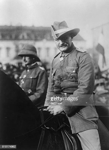 The remnants of the German army which operated in East Africa returned to Berlin and were greeted joyously by the people This photo shows General Von...