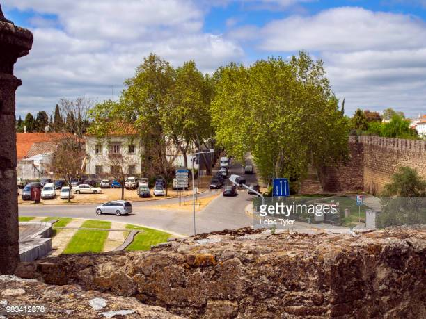 RAIMUNDO EVORA ALENTEJO PORTUGAL The remnants of the Medieval city wall built to protect the city of Evora Portugal