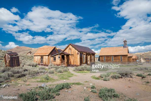 the remnants of the wildest city in the wild west - wild west stock pictures, royalty-free photos & images