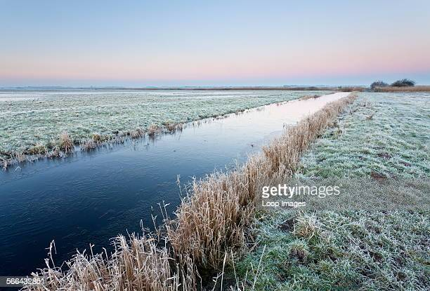 The remote Halvergate Marshes on the Norfolk Broads