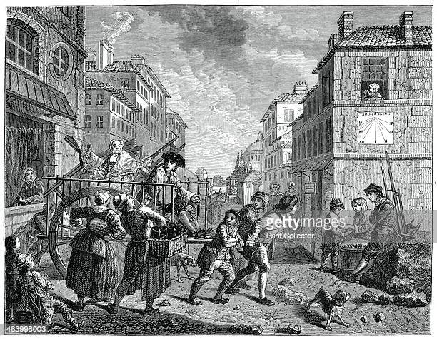The Removal Of The Painter, . Illustration from 18th Century Institutions, Usages And Costumes, France 1700-1789, by Paul Lacroix, .