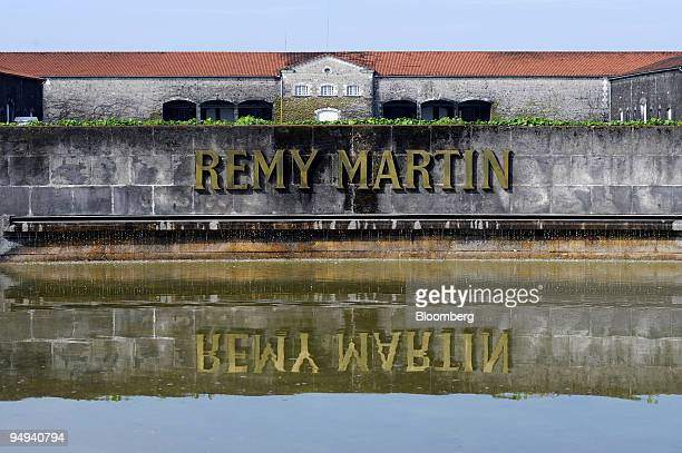 The Remy Martin logo is seen at the Remy Martin cognac distillery in Cognac France on Tuesday April 14 2009 Remy Cointreau SA France's second largest...