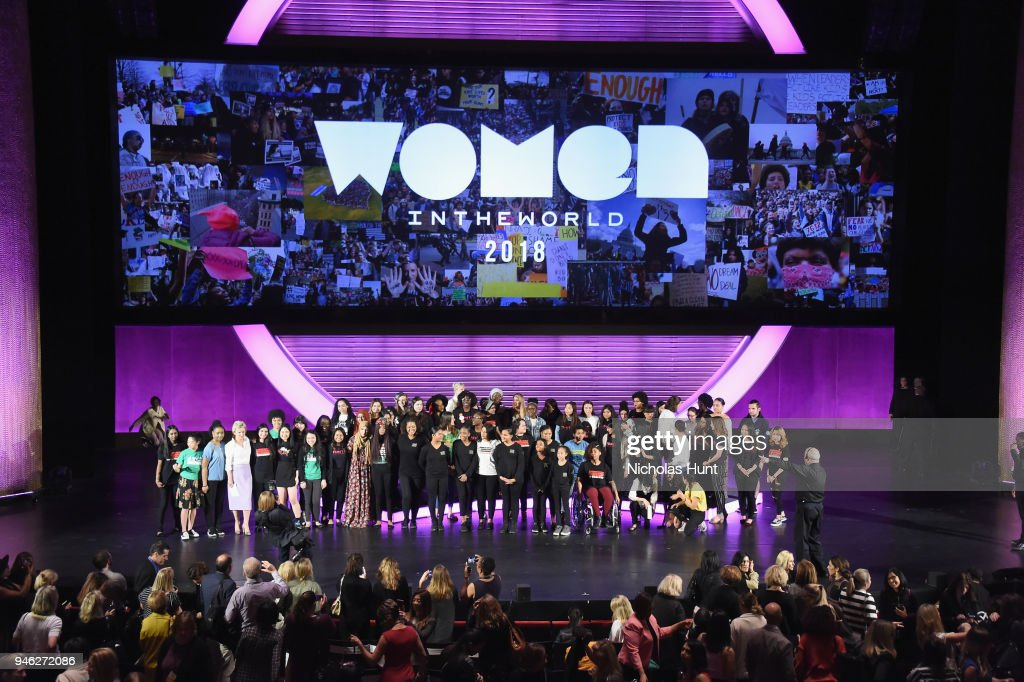The Renaissance Youth Center Choir performs onstage at the 2018 Women In The World Summit at Lincoln Center on April 14, 2018 in New York City.