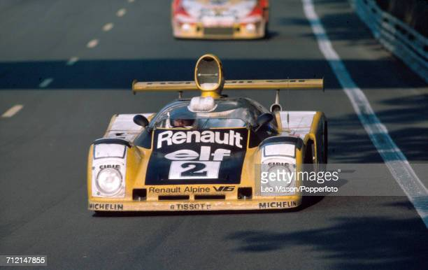 The Renault Alpine V6 driven by JeanPierre Jaussaud with Didier Pironi of France to a first place finish for Renault Sport during the FIA World...
