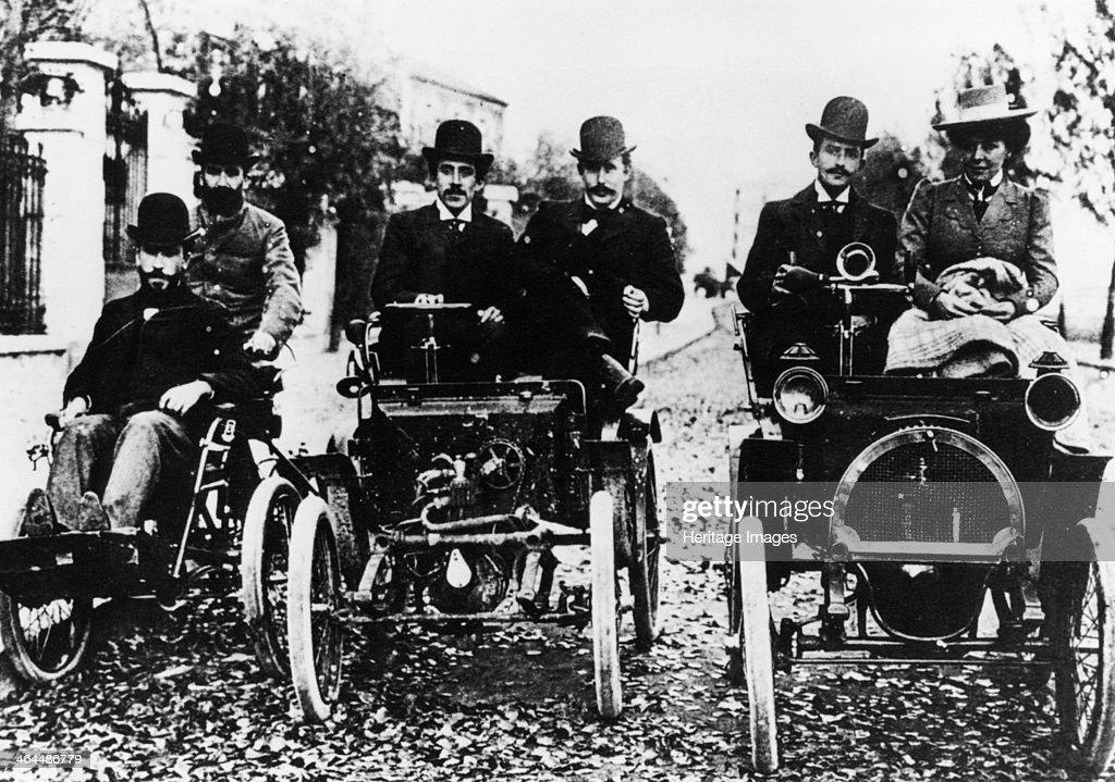 The Renault brothers, 1898. : News Photo