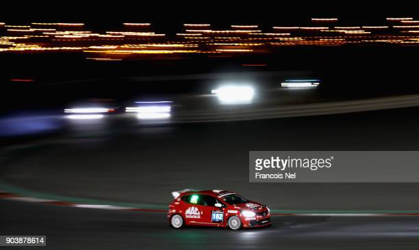 The Renault Clio Club IV of Adam Morgan Max Bird and Frank Bird drives during qualifying for the Hankook 24 Hours Dubai Race in the International...