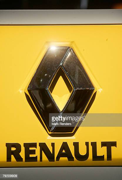 The Renault corporate logo is seen at the International Car Show at Heysel, on January 22, 2008 in Brussels, Belgium.