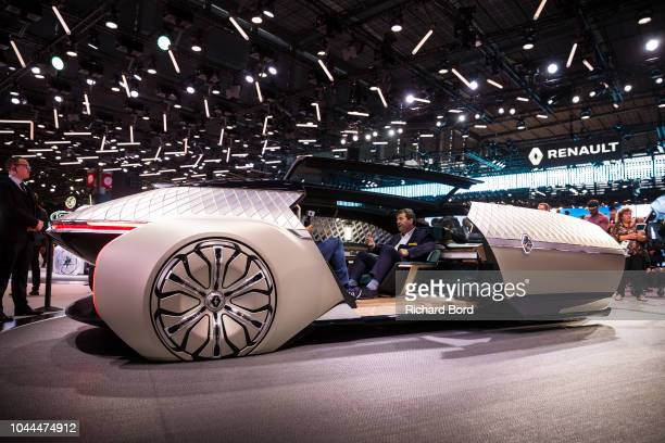 The Renault EZUltimo concept car is displayed during the Paris Motor Show at Parc des Expositions Porte de Versailles on October 2 2018 in Paris...