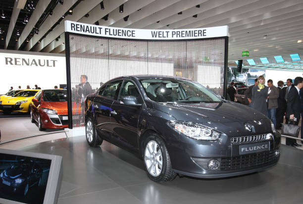 The Renault Fluence Ze Concept Electric Car Is Seen On Dis