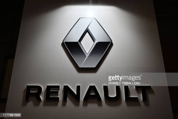 The Renault logo is pictured during the Tokyo Motor Show in Tokyo on October 23 2019