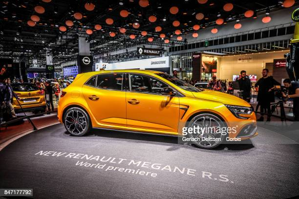 The Renault Megane RS on display at the 2017 Frankfurt Auto Show 'Internationale Automobil Ausstellung' on September 13 2017 in Frankfurt am Main...