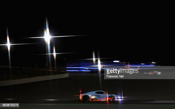 The Renault RS01 GT3 of JeanPierre Valentini and Jordan Grogor drives during qualifying for the Hankook 24 Hours Dubai Race in the International...