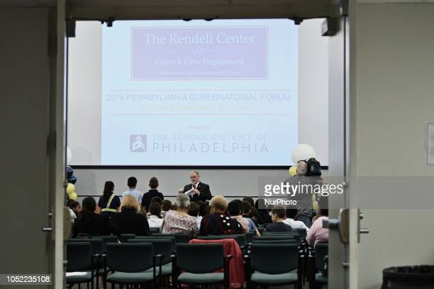 The Rendell Center fo Civics and Civics Engagement holds a student forum with Democratic and Republican candidates for the seat of Governor at the...
